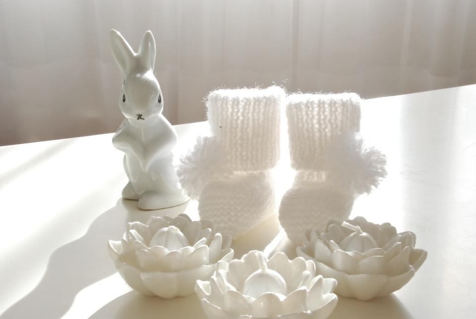 Chausson bébé tricot