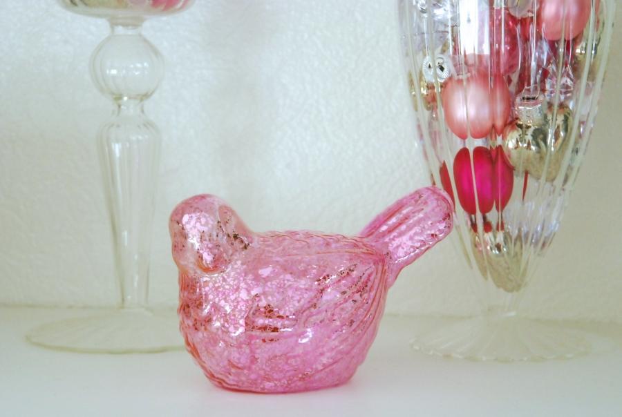 oiseau eglomise rose maison du monde