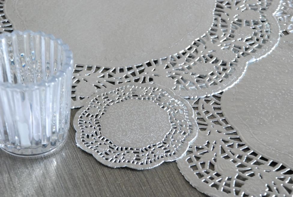 napperon papier argent monoprix