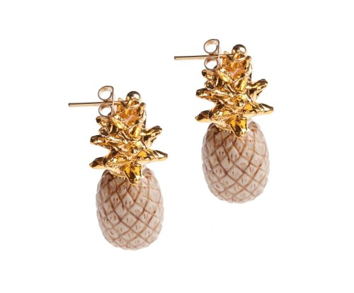 and mary boucle d'oreille ananas