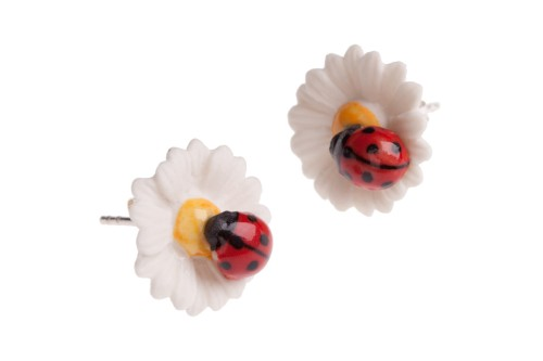 and mary boucle doreille coccinelle