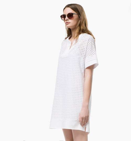 massimo dutti robe broderie anglaise