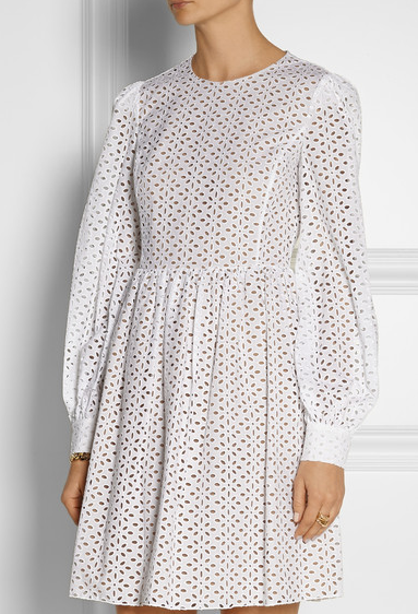 michael kors net a porter ROBE BRODERIE ANGLAISE