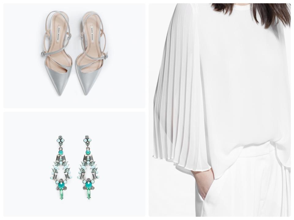 blouse mango chaussures boucle doreille zara