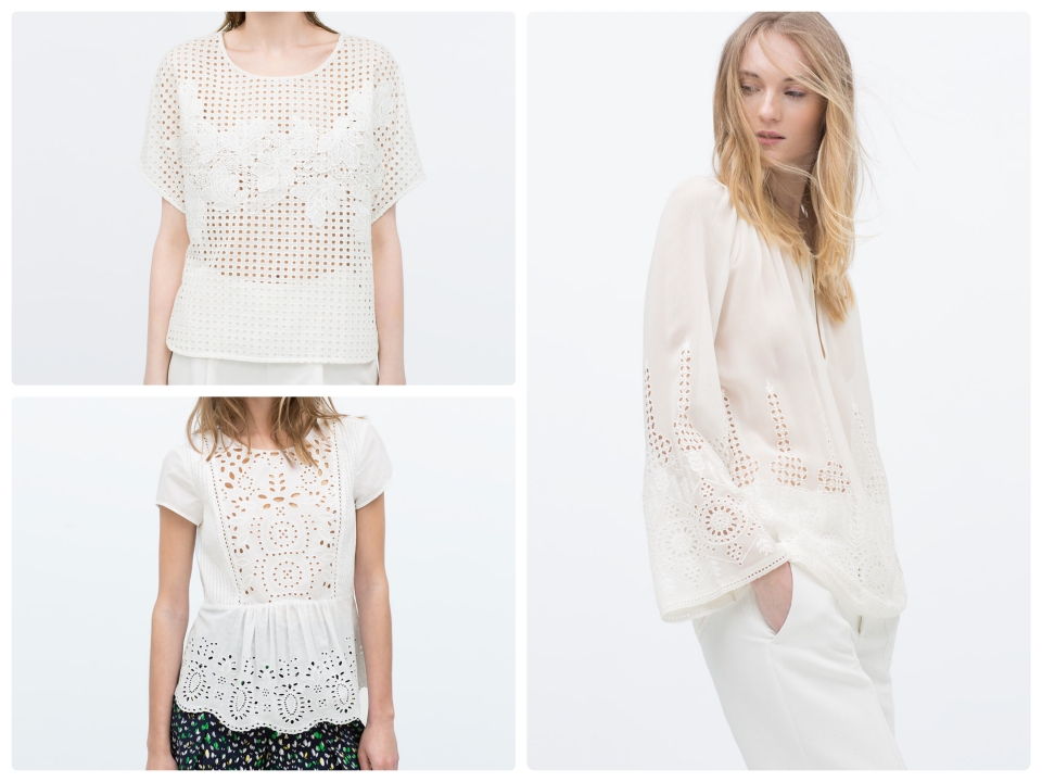 Top Broderie anglaise zara
