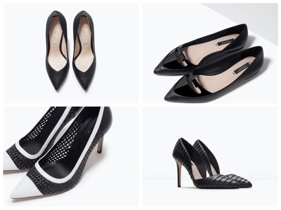 chaussures noires zara