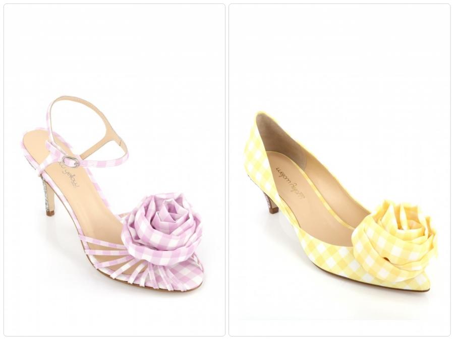 Mellow Yellow, sandales Shanice rose, 159€ et escarpins Shandya jaune, 139€
