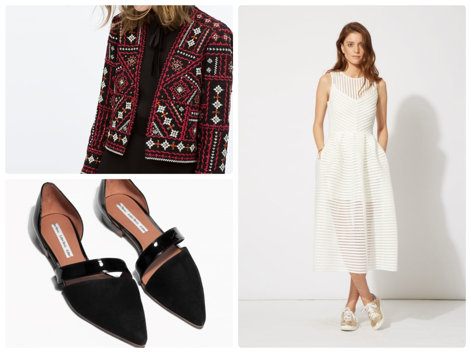 robe maje veste zara chaussures and other stories