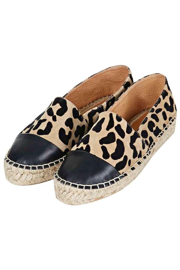 Espadrilles léopard Topshop