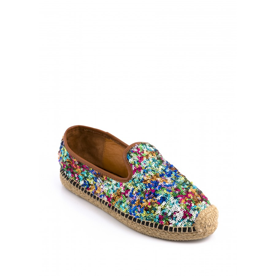 Espadrilles à sequins multicolores Mellow Yellow