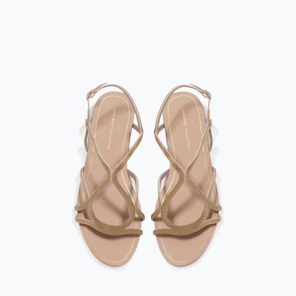 Sandale dorée 2660:001 zara