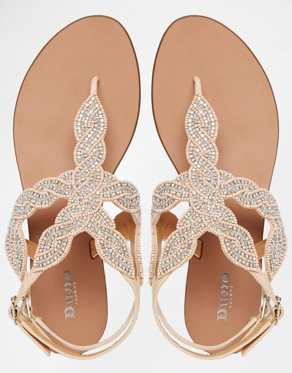 Sandales beige Dune 597076 asos