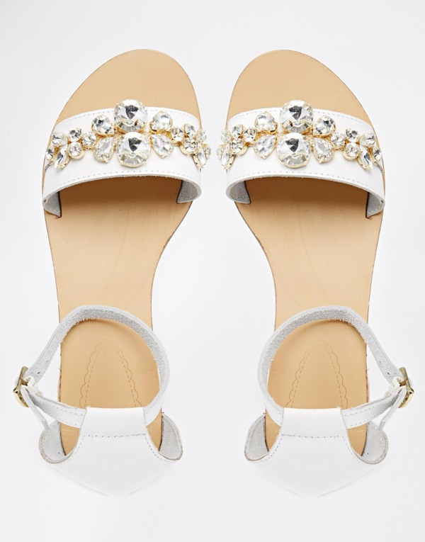 Sandales blanches Oasis 636412 asos