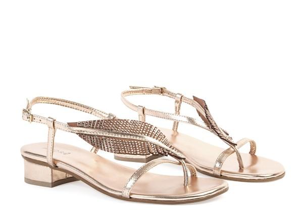 Sandales dorées André CARACAS