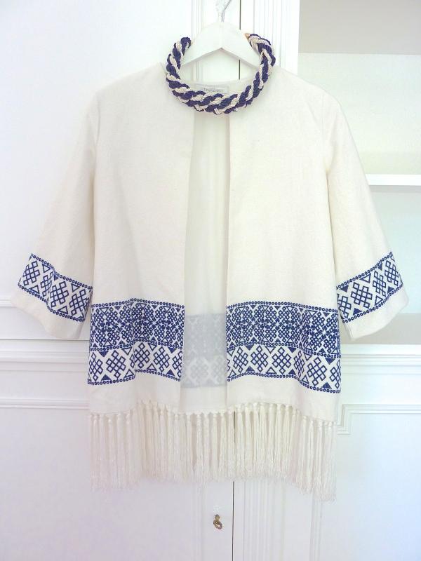 Veste Zara, collier H&M
