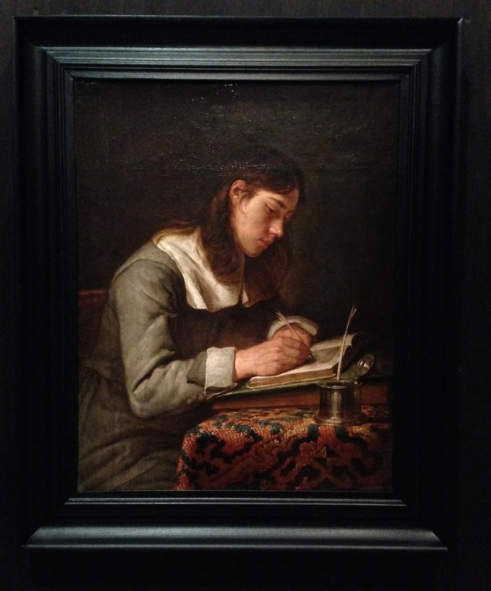 Jeune homme écrivant de Jacob Van Oost l'ancien, vers 1660
