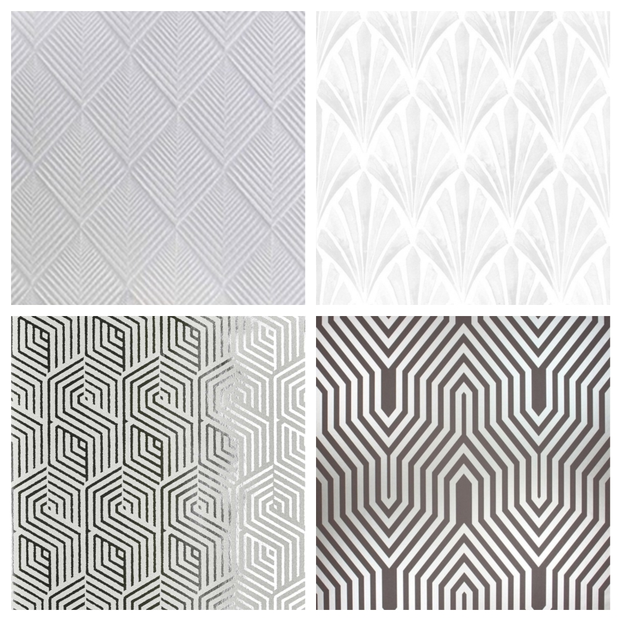 Papier peint géométrique losange